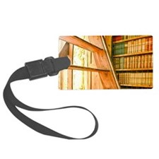 The library contains volumes hun Luggage Tag