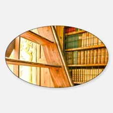 The library contains volumes hundre Sticker (Oval)