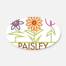 PAISLEY-cute-flowers Oval Car Magnet