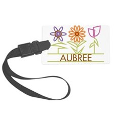 AUBREE-cute-flowers Luggage Tag