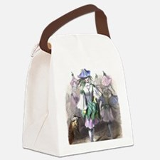 Morning Glory Canvas Lunch Bag