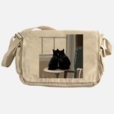 winterwindowkitties3 Messenger Bag