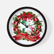 buon natale a Wall Clock