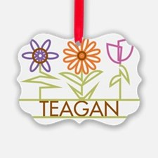 TEAGAN-cute-flowers Ornament