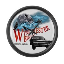 Winchester Bros Hunting Evil Sinc Large Wall Clock