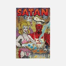 CHICKEN SOUP FOR SATAN Rectangle Magnet