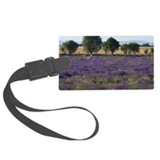 France, Provence. Rows of lavend Luggage Tag