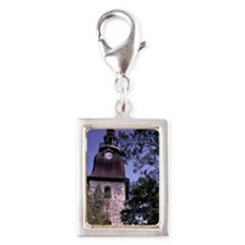 Europe, Finland, Naantali. S Silver Portrait Charm