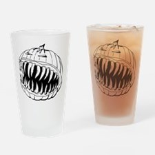 Angry Pumpkin Drinking Glass