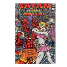 Satan Gone Wild Postcards (Package of 8)
