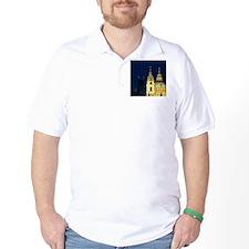 St. Nicholas church and Mala Strana Bri T-Shirt