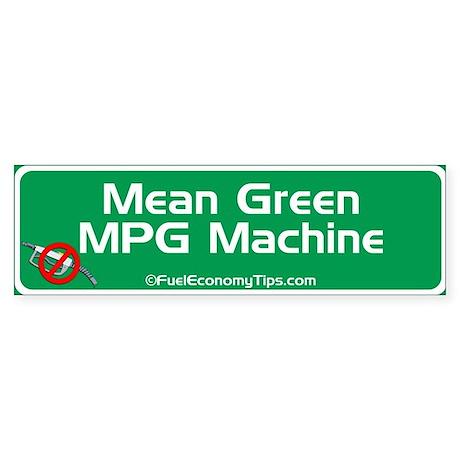 Green MPG Bumper Sticker