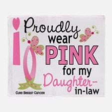 - Pink for My Daughter-In-Law Throw Blanket