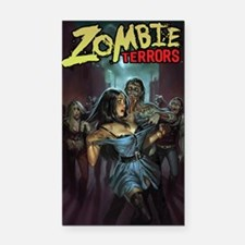 Zombie Terrors Rectangle Car Magnet