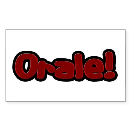 Orale Rectangle Sticker