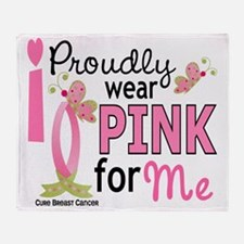 - Pink for Me Throw Blanket