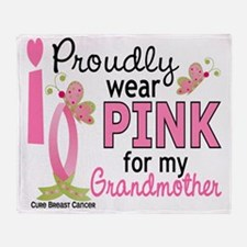 - Pink for My Grandmother Throw Blanket