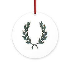 Funny Laurel Ornament (Round)