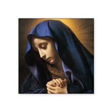 """Our Lady Rosary Box Square Sticker 3"""" x 3"""""""