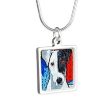 Right On Terrier Silver Square Necklace