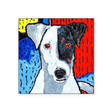 "Right On Terrier Square Sticker 3"" x 3"""