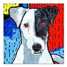 """Right On Terrier Square Car Magnet 3"""" x 3"""""""