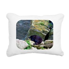 bearmess5 Rectangular Canvas Pillow