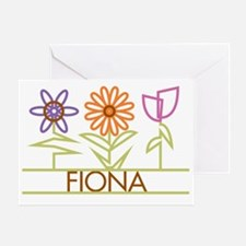 FIONA-cute-flowers Greeting Card