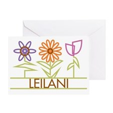 LEILANI-cute-flowers Greeting Card