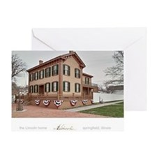16x20 the lincoln home Greeting Card