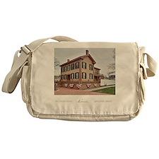 16x20 the lincoln home Messenger Bag