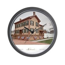 16x20 the lincoln home Wall Clock