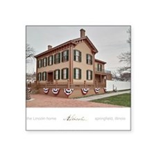 "16x20 the lincoln home Square Sticker 3"" x 3"""