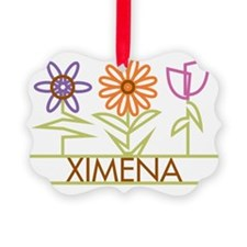 XIMENA-cute-flowers Ornament