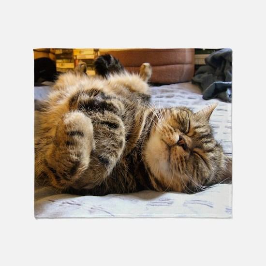 calendar happycat 01 jan Throw Blanket