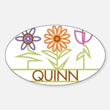 QUINN-cute-flowers Sticker (Oval)