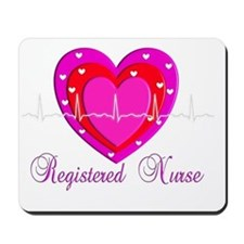 Registered Nurse PINK HEART 2011 Mousepad