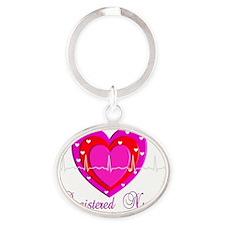 Registered Nurse PINK HEART 2011 Oval Keychain