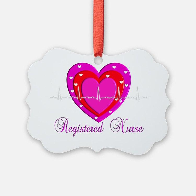 Registered Nurse PINK HEART 2011 Ornament