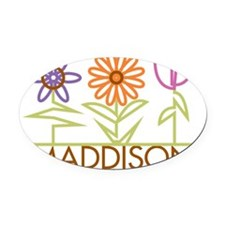 MADDISON-cute-flowers Oval Car Magnet