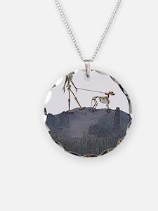 skeleton dog person Necklace