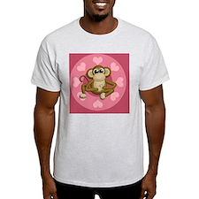 Monkey Me Pink Love T-Shirt