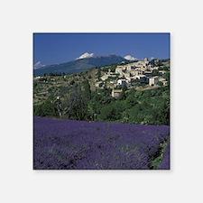 """Hilltop village Provence, A Square Sticker 3"""" x 3"""""""