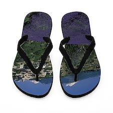 Hilltop village Provence, Aurel Lavende Flip Flops