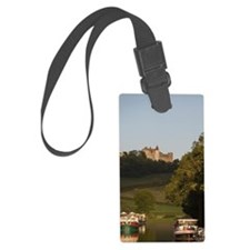 Barges tied to bank of Burgundy  Luggage Tag