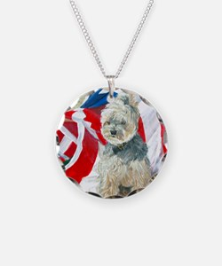 MouseLite Flag Morkie Necklace