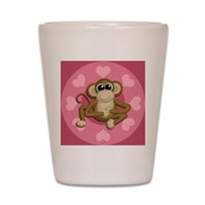 Monkey Me Pink Love Shot Glass