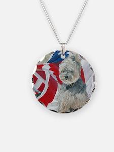 8x10 FlagMorkie Necklace