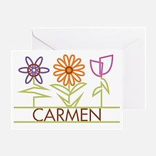 CARMEN-cute-flowers Greeting Card