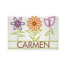 CARMEN-cute-flowers Rectangle Magnet